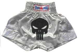 Short boxe Thai - THAISMAI - TSM6 Death grey