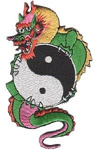 Ecusson  Yin Yang dragon - 1850