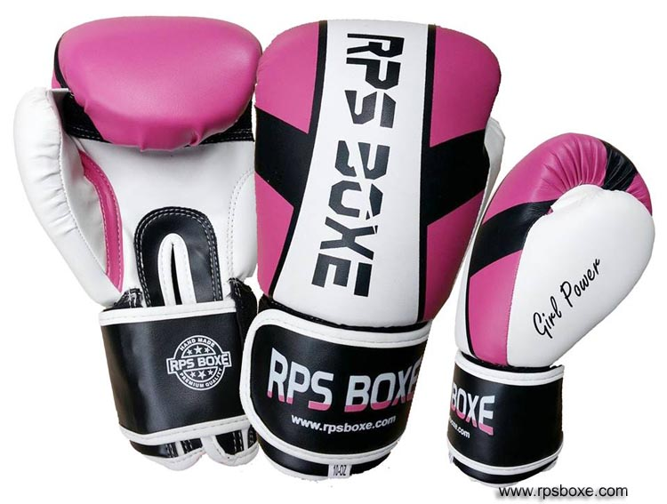 gants boxe rose girl power